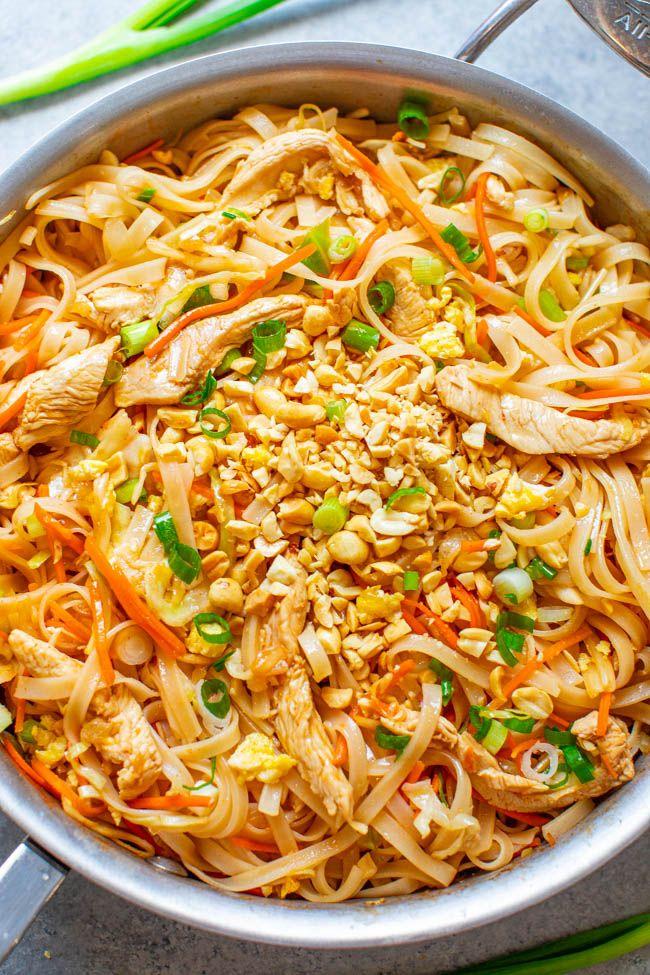 Chicken Pad Thai (EASY 20-Minute Recipe!) - Averie Cooks
