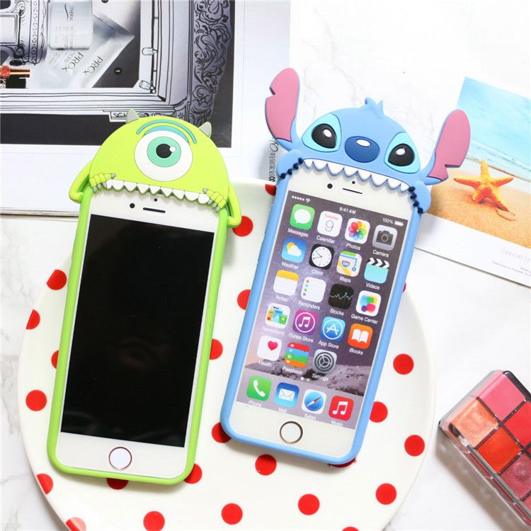 buy online 7b067 224aa 3D Cute Disney Stitch Mike Soft Rubber Silicone Case Cover for ...