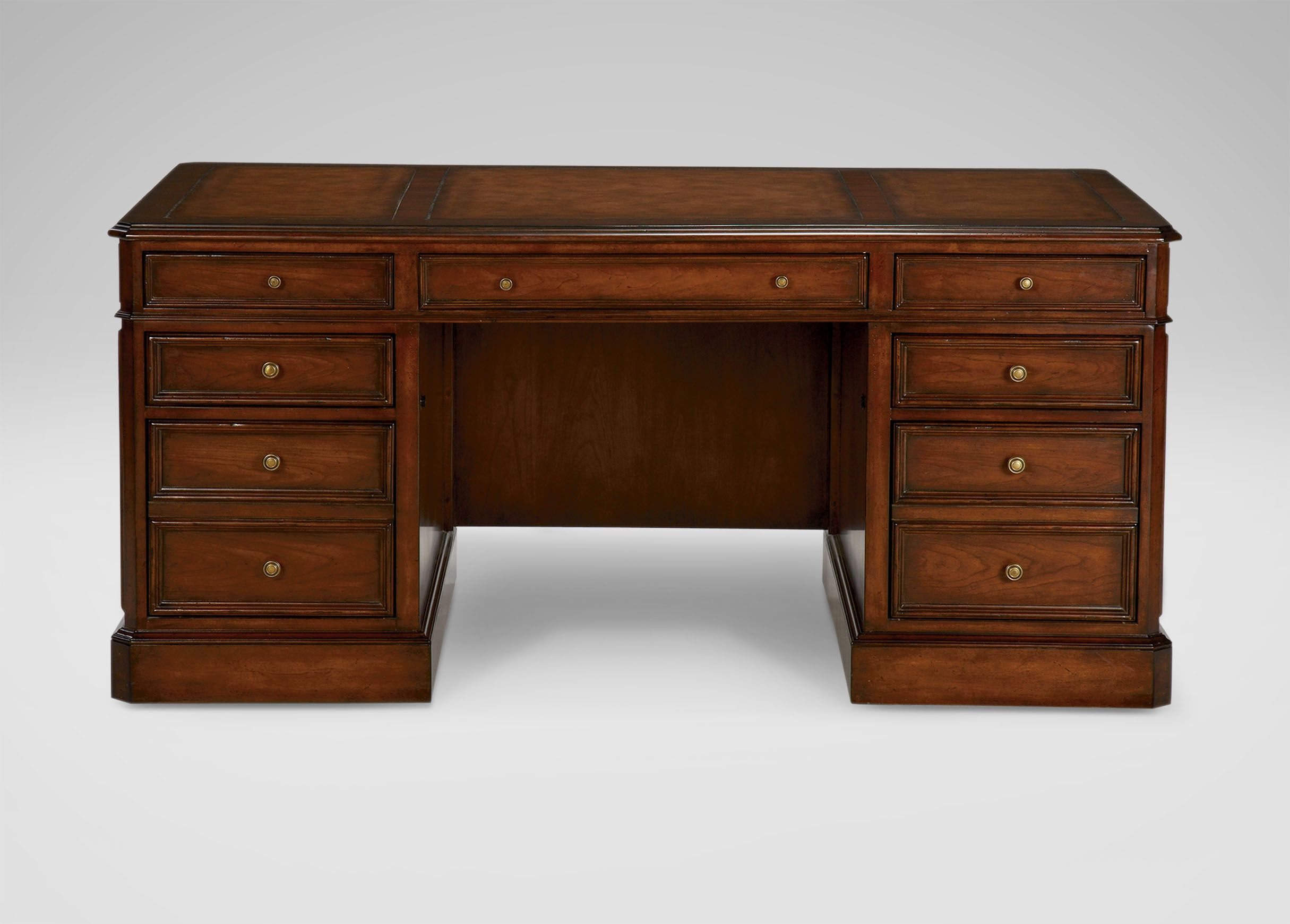 Buckley Leather Top Pedestal Desk Leather Top Desk Pedestal Desk Desk