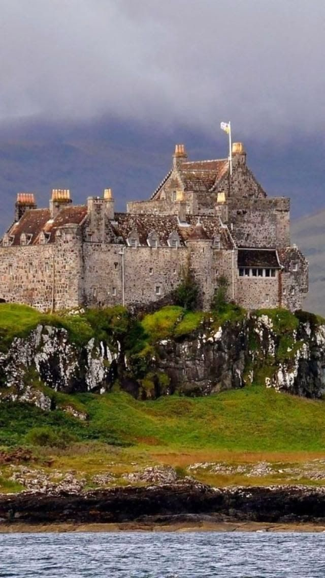 Duart Castle, Isle of Mull in Scotland. Duart Castle is the ancestral home of Clan Maclean.