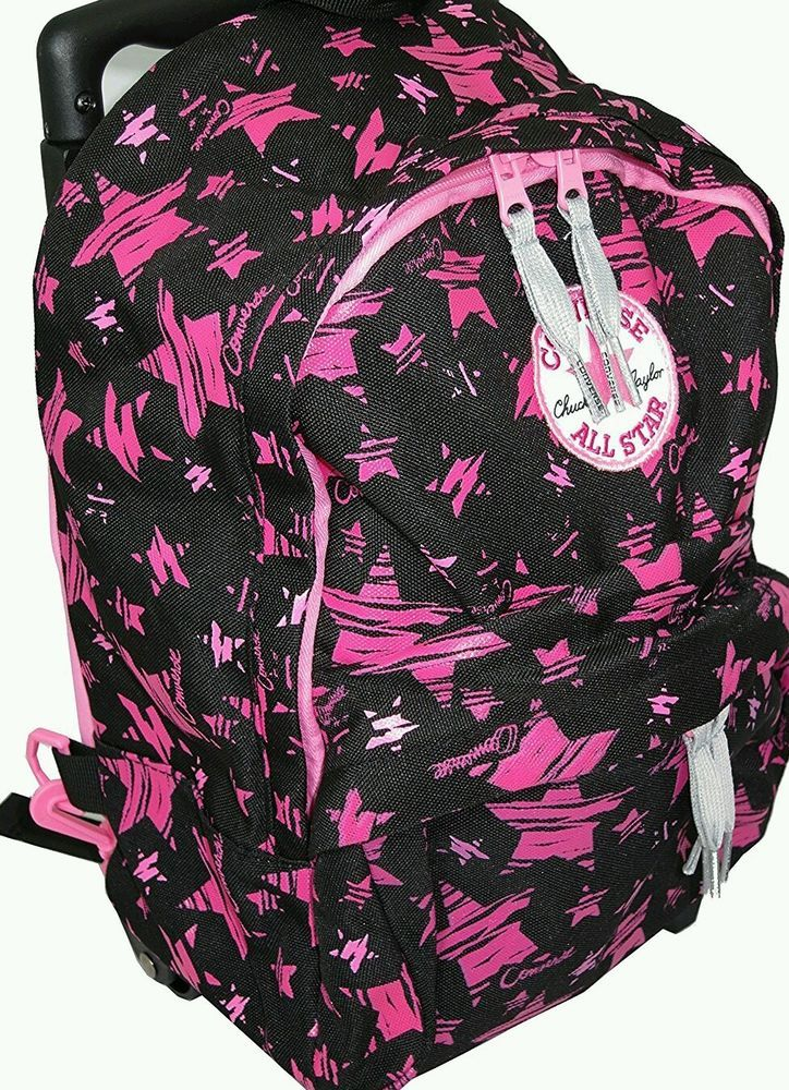 3a4874c0e8 CONVERSE All Star CHUCK TAYLOR Little Girls MINI ROLLING BACKPACK Pink Black  (NOT A SCHOOL BACKPACK) #CONVERSE #MiniRollingBackpack
