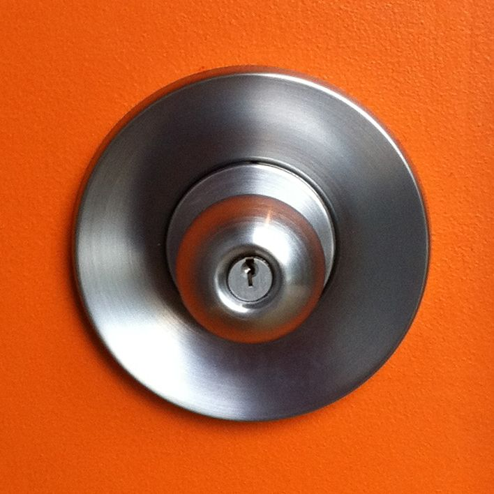 Set Back 5 Inches From The Edge Of The Door Simple Round Ariel Escutcheon.