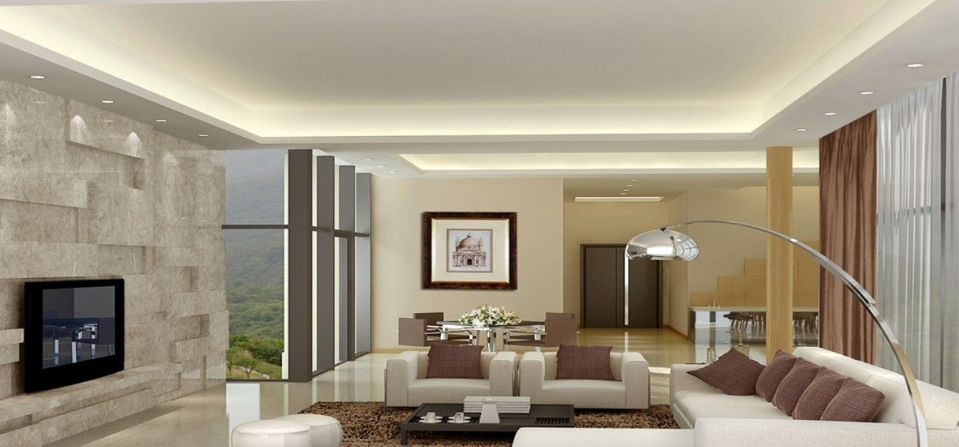 ceiling designs for your living room - Minimalist Interior Design Living Room