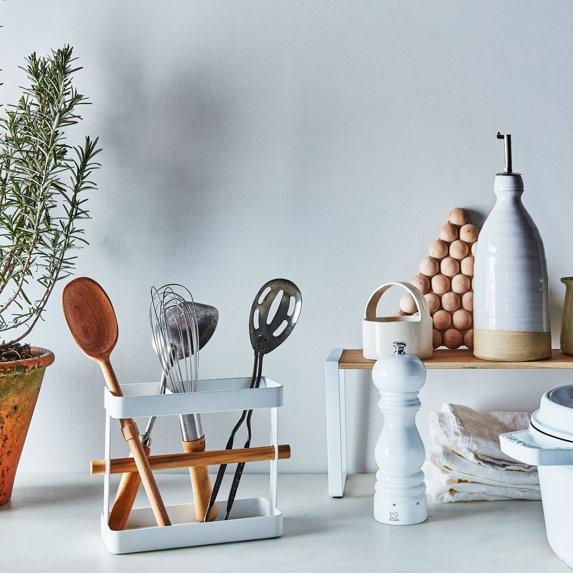Steel & Wood Kitchen Tool Stand | Steel, Kitchens and Woods