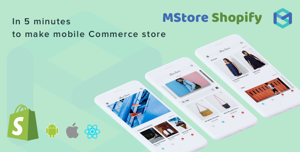Mstore Shopify - Complete React Native template for e-commerce