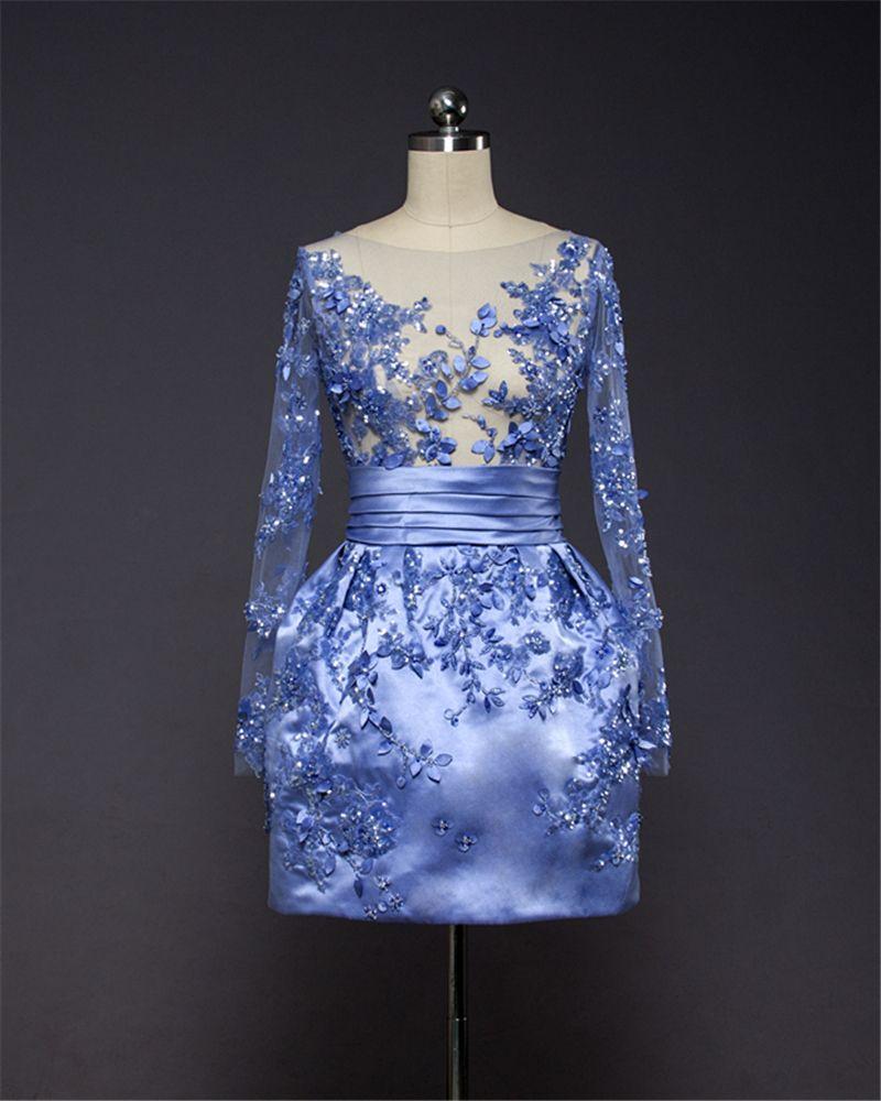 Sexy taffeta full sleeve beaded sequined straight shortmini dress