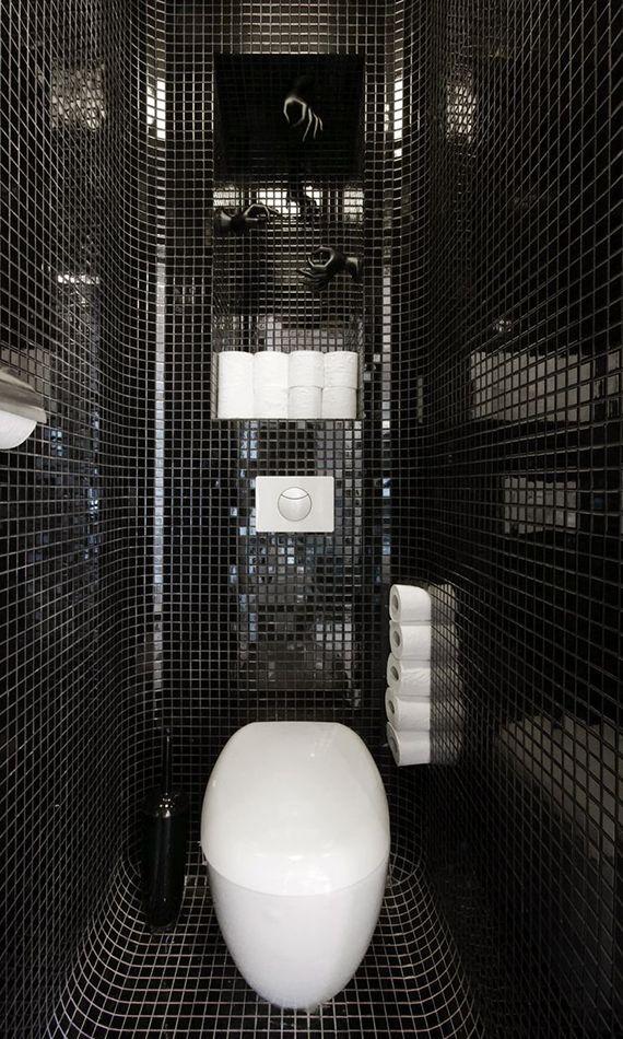kreative ideen für moderne raumgestaltung kleiner gäste-wc\u0027s mit