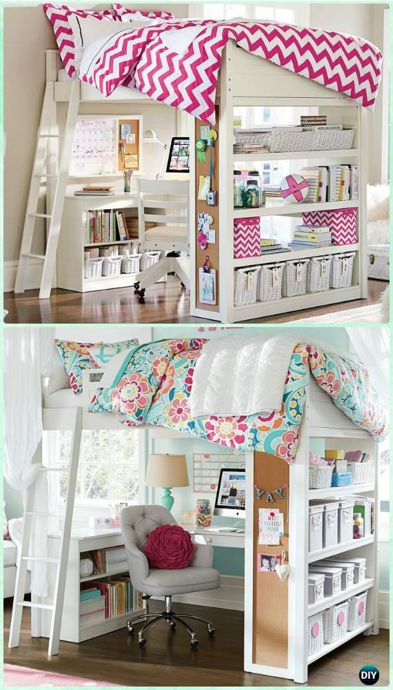 Space saving kids bedroom furniture design layout home for Escritorios usados baratos