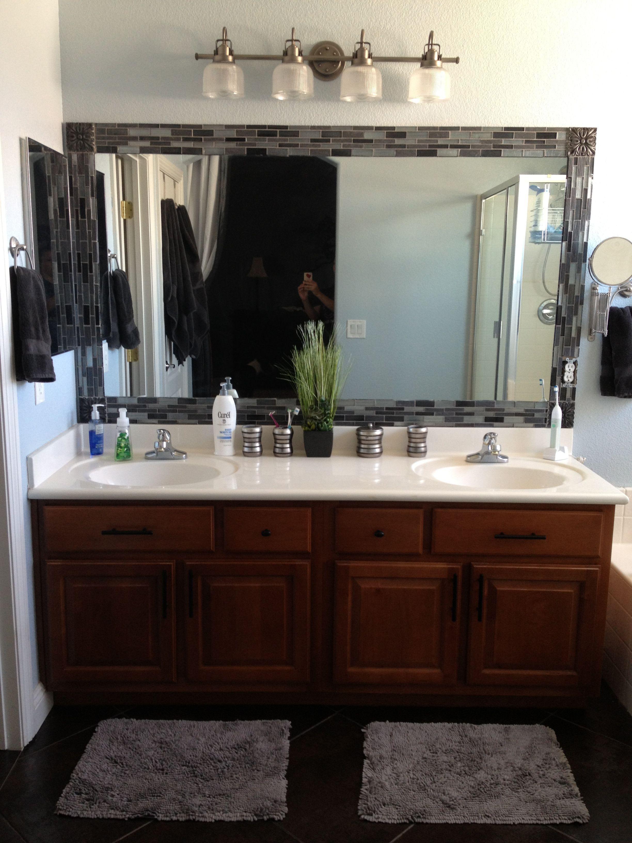 Read More About 51 Amazing Bathroom Mirror Design Ideas For Every Style Guestbathr Diy Mirror Frame Bathroom Bathroom Mirror Makeover Bathroom Mirror Design
