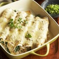 Been Looking For A Dish Like This Since Don Pablos Closed They Had A Great Dish Kind Of Like This If Creamy Chicken Enchiladas Enchilada Recipes Recipes
