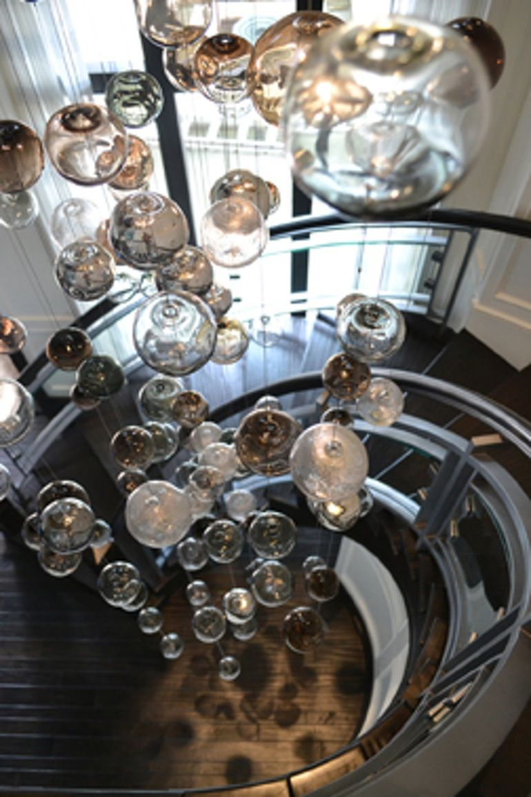 Floating bubbles chandelier contemporary transitional ceiling floating bubbles chandelier contemporary transitional ceiling dering hall aloadofball Images