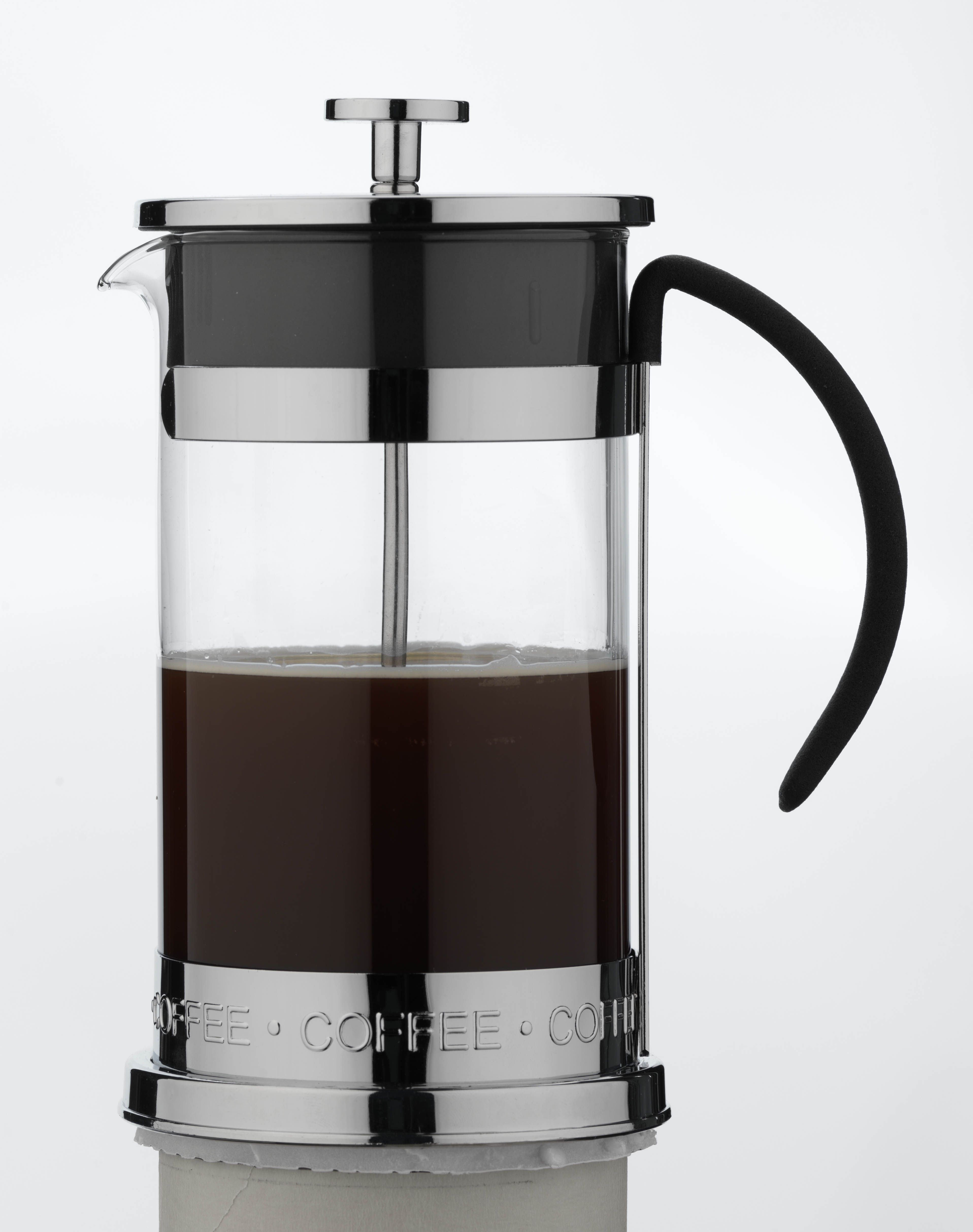 Cafe Ole Nuvo Cafetiere with heat resistant glass and soft touch handle