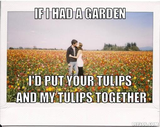 Tulips Meme Generator Diy Lol Corny Pick Up Lines Pick Up Lines Funny Coincidences