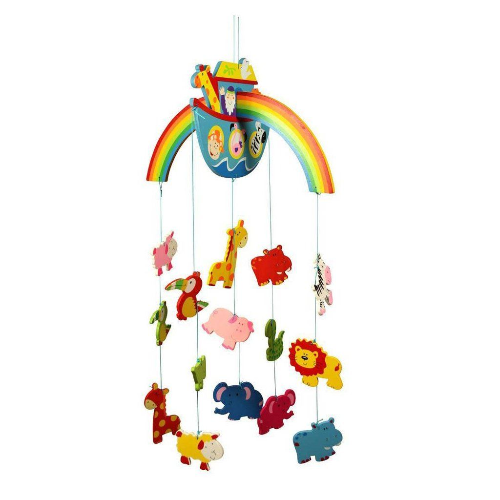 Cot and Nursery Accessories Bigjigs Toys Wooden Jungle Mobile