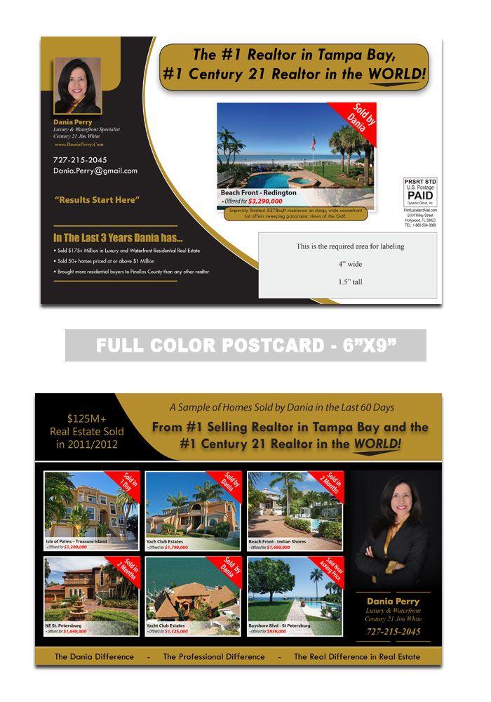 Realtor Postcard Sample | Real Estate Postcard Samples | Pinterest ...