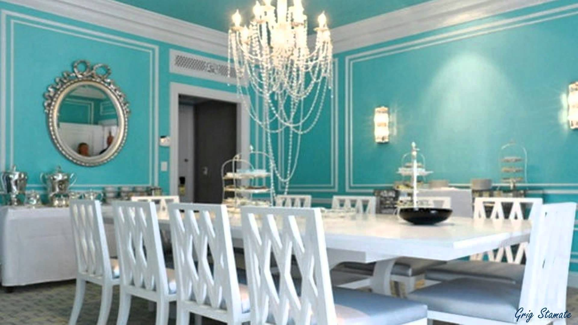 Tiffany Blue And Grey Living Room