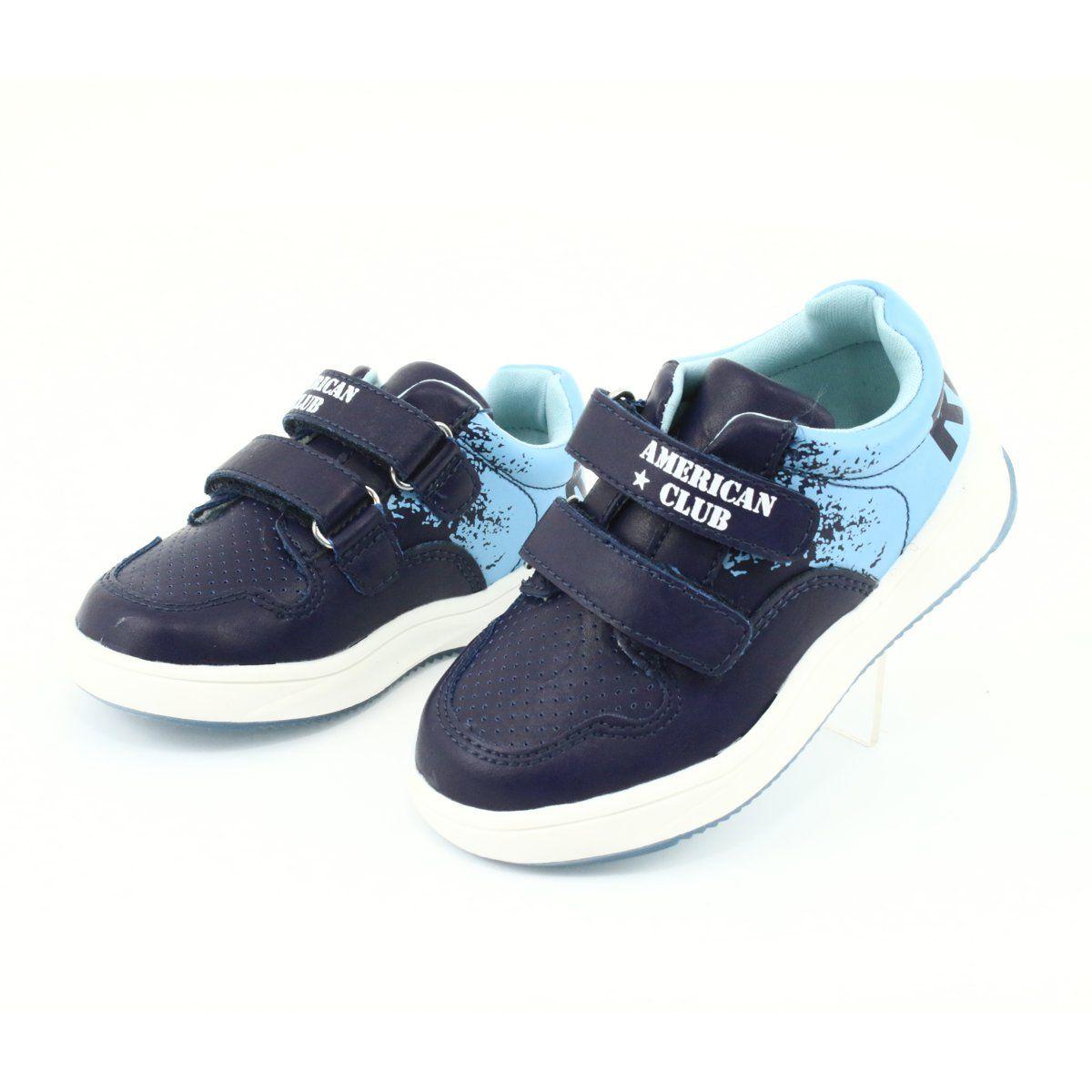 Buty Sportowe Na Rzepy American Club Gc18 Granatowe Niebieskie Baby Shoes Shoes Sneakers