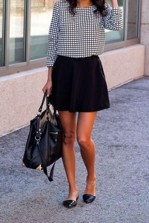 Short skirts make for one of the best cute summer work outfits for women! #summerworkoutfits #workoutfitswomen #summerworkoutfitsoffice #office #style #Accessories #shopping #styles #outfit #pretty #girl #girls #beauty #beautiful #me #cute #stylish #photooftheday #swag #dress #shoes #diy #design #fashion #outfits