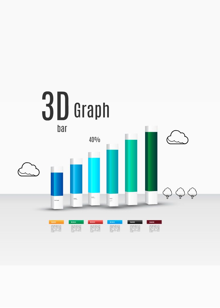 D Bar Graph Prezi Template