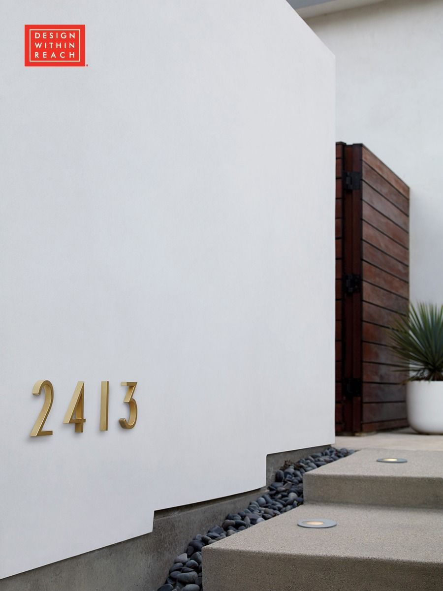 Neutra modern house numbers based on geometric letterforms created by legendary modern architect richard neutra for use in his own projects are now