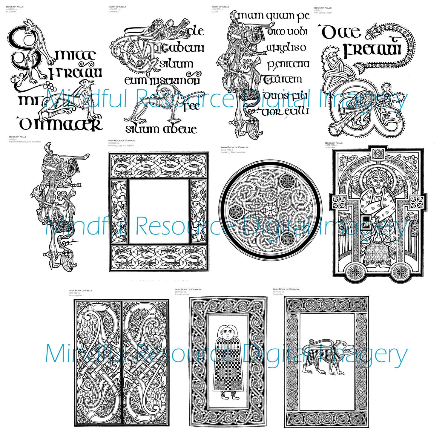 celtic colouring pages digital coloring page book of kells