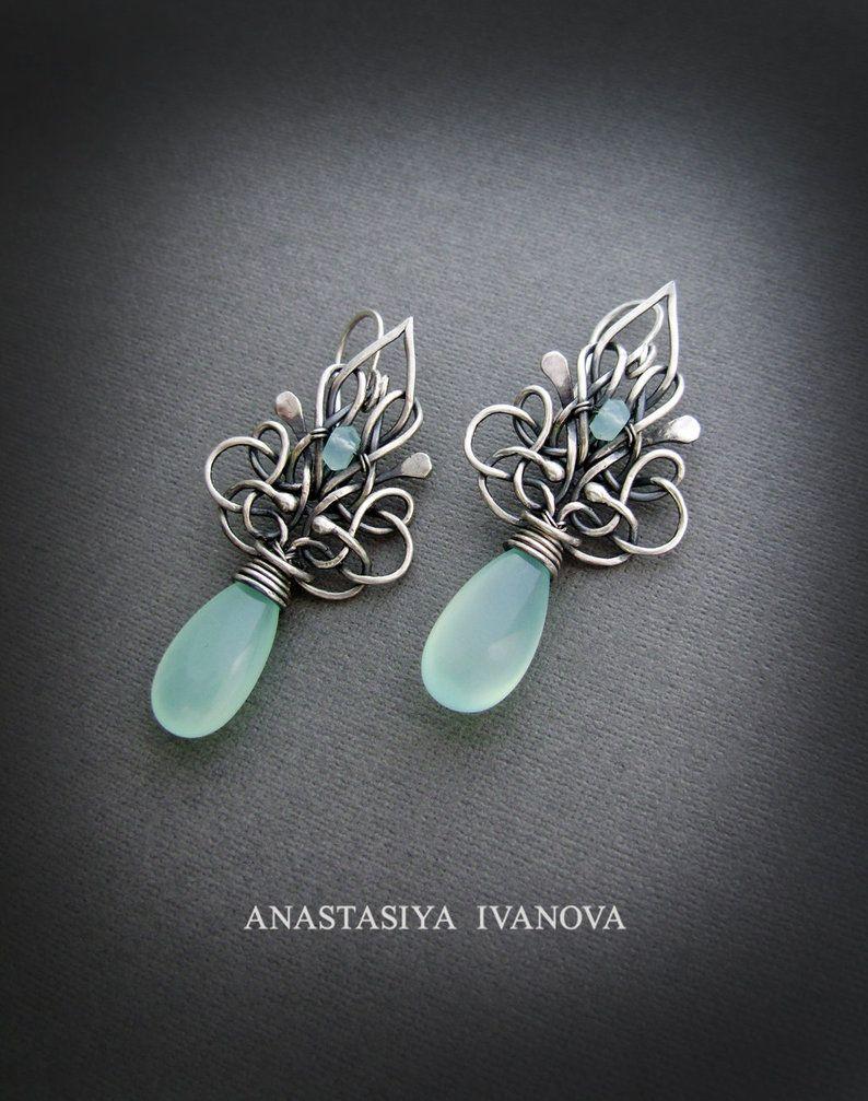 earrings with chalcedony by nastya-iv83 on DeviantArt | lunarienne ...
