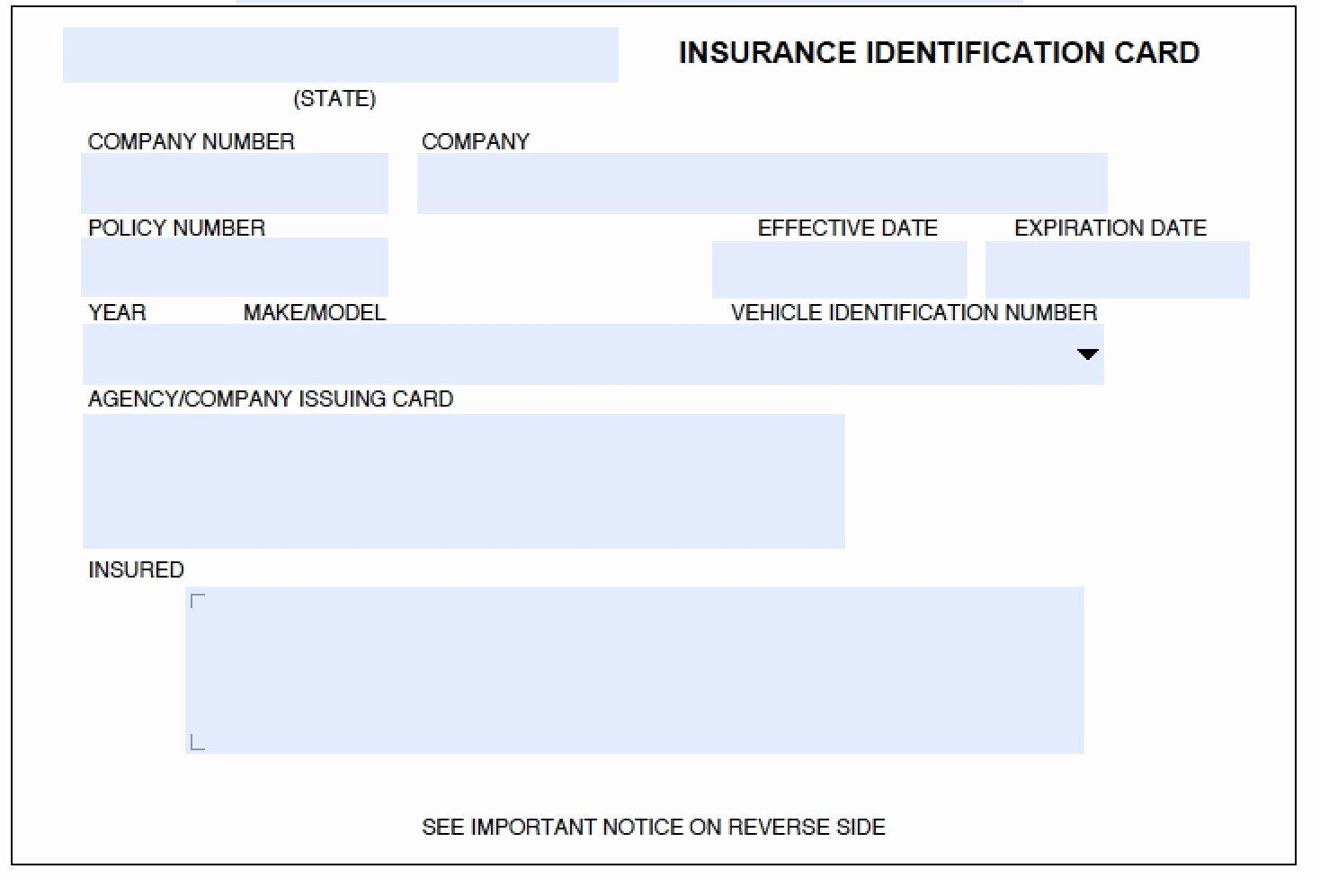 Print Free Fake Insurance Cards Awesome Printable Fake Car Insurance Cards Card Templates Free Id Card Template Car Insurance