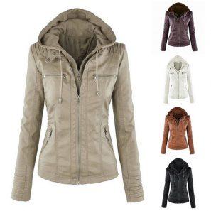 Faux Leather Gothic Motorbike Basic PU Jacket Coats – BeFashionova