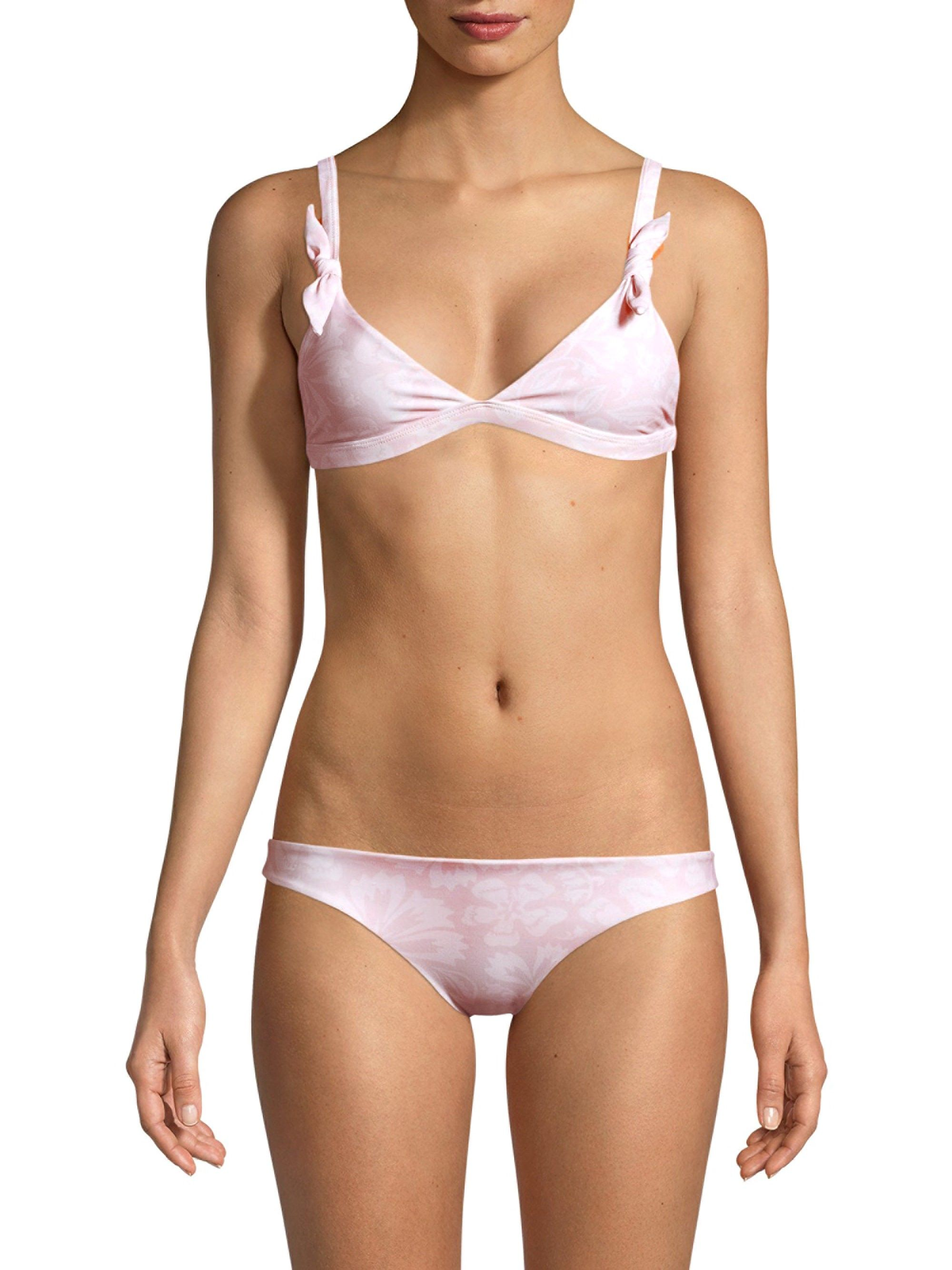 a9fb4e64f6650 Mikoh Swimwear Bali Triangle Bikini Top - Cloud Pink X-Large