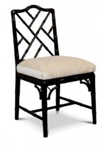 black chippendale side chair