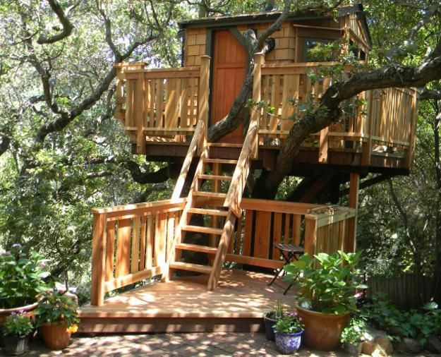 Treehouse design ideas that are nice than your house from simple tree plans for kids to the big ones adult you can live in also rh pinterest