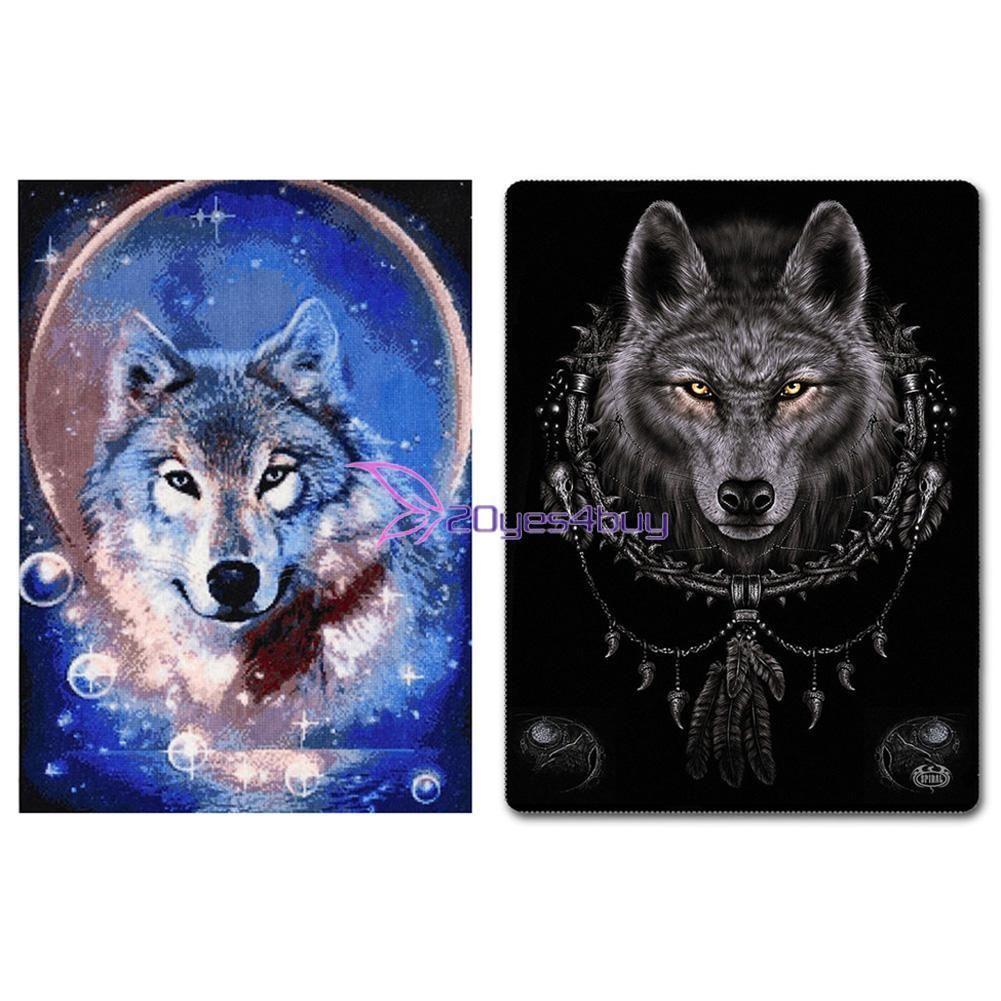Grey Wolf DIY 5D Diamond Embroidery Painting Cross Stitch Craft Home Decor