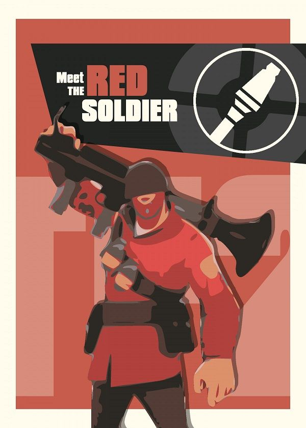 Team Fortress 2 Characters Displate Posters