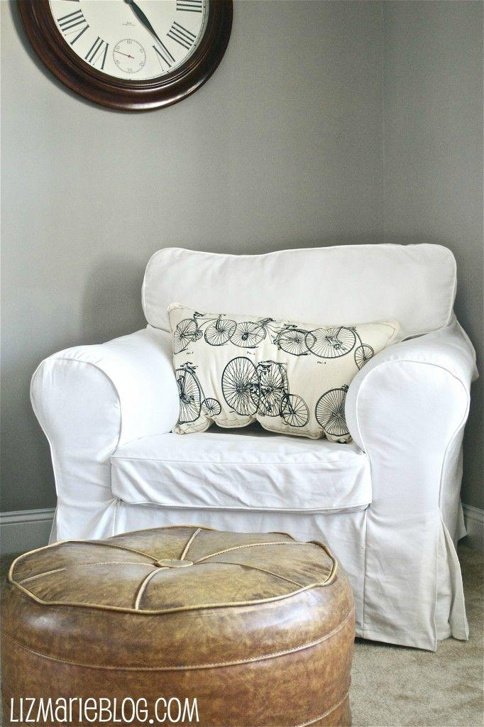inspiring white shabby chic living room furniture | White Slipcovered Chair | Home Sweet Home | Shabby chic ...