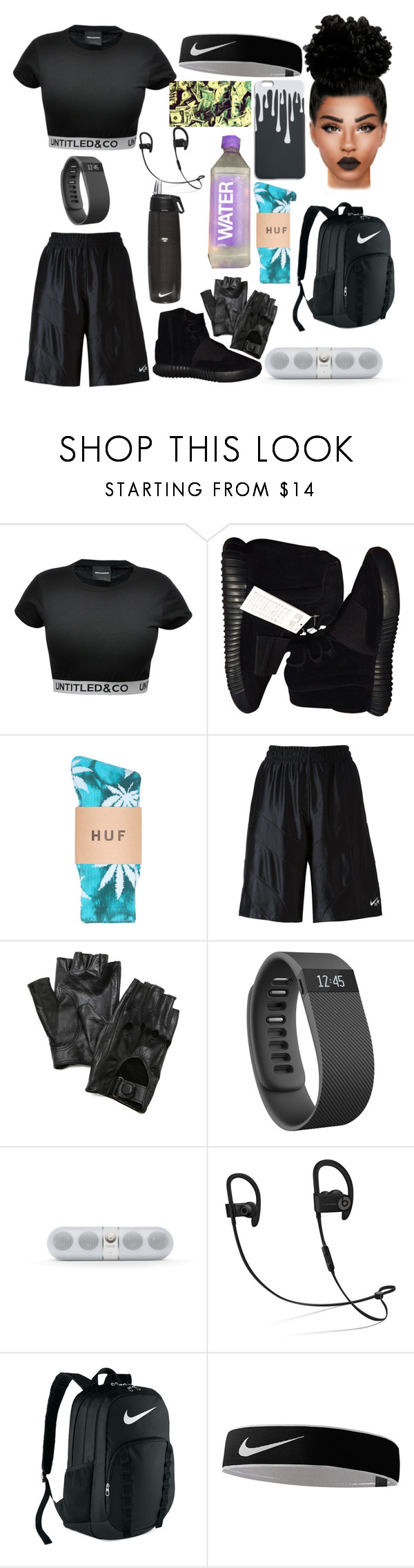 """""""Untitled #70"""" by lina-6-6 ❤ liked on Polyvore featuring CO, adidas Originals, NIKE, Carolina Amato, Fitbit and Beats by Dr. Dre"""