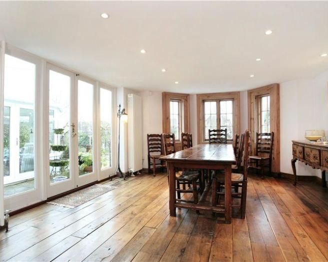 Flooring For Dining Room Delectable Photo Of Beige White Oak Dining Room With Radiators Vertical Inspiration
