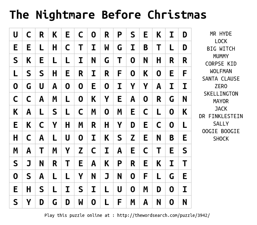 Play word search puzzles online including this one More at