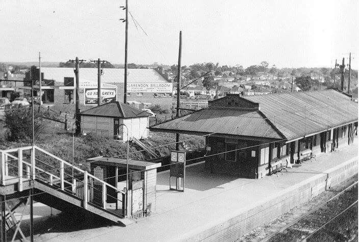 Riverwood Railway Station, metropolitan area of Sydney, was also know as Herne Bay in earlier times. ca.1957. v@e