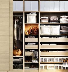 Stack In Bins, Drawers, Boxes, Fold On Shelves And Hang. Nice Idea For A  Small Closet Space. Via Ikea