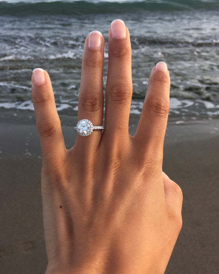 Engagement Proposal Rings The Knot Wedding Rings Round Dream Engagement Rings Round Halo Engagement Rings