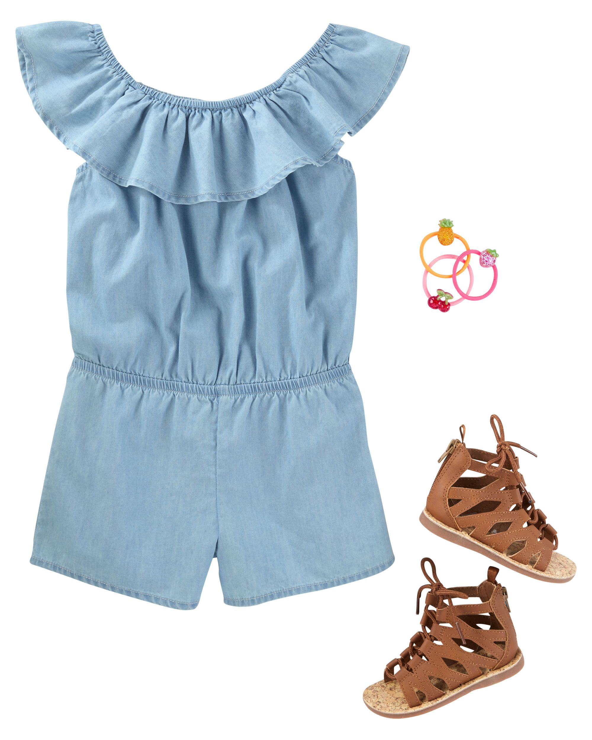 11131ec84f4 In soft chambray and a one-piece fit