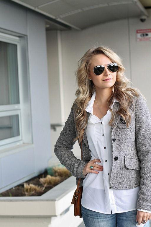 Andrea Clare Blog - tweed blazer