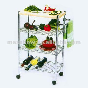 Kichen muebles almacenamiento frutas y vegetales estante - Muebles para frutas ...