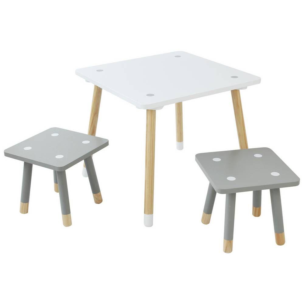 Argos Childrens Garden Table And Chairs: Buy Argos Home Ellis Kids Table & 2 Stools - White