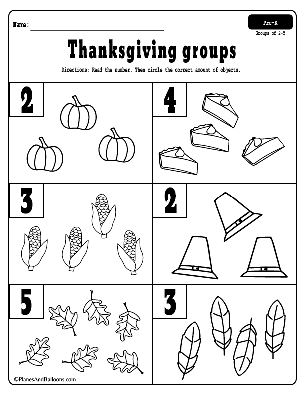 Thanksgiving Math Activities For Preschool And Kindergarten Thanksgiving Math Preschool Thanksgiving Math Activities Thanksgiving Math Kindergarten