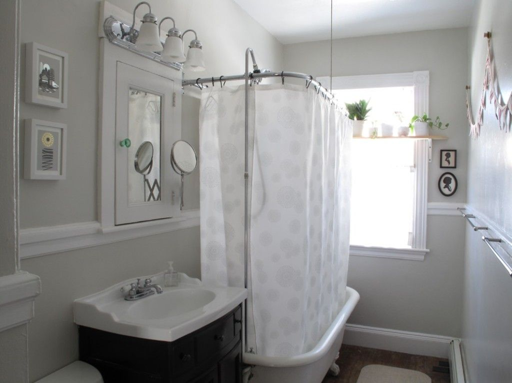Clawfoot Tubs: How To Choose The Best Shower Curtain For Clawfoot Tub White  Printed Shower