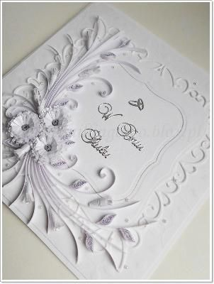 Kartka ślubna Quilling Quilled Cards Pinterest Quilling Cards