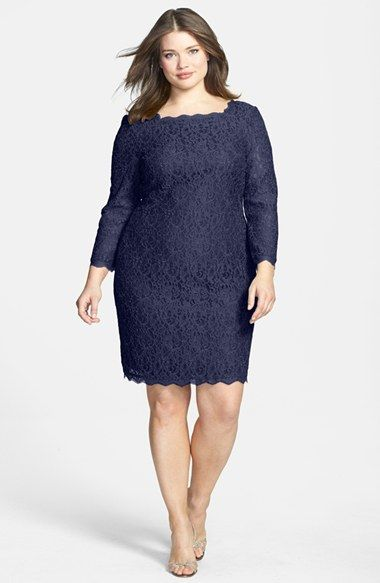 Adrianna Papell Lace Overlay Sheath Dress Plus Size Nordstrom
