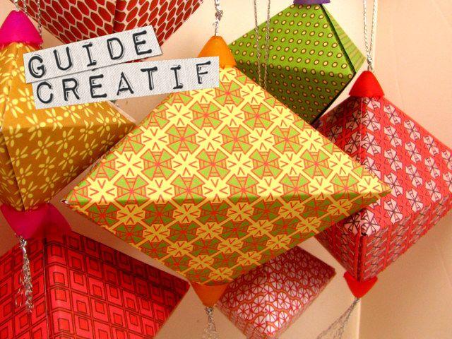 dco boules de nol en origami - Decoration De Noel En Origami