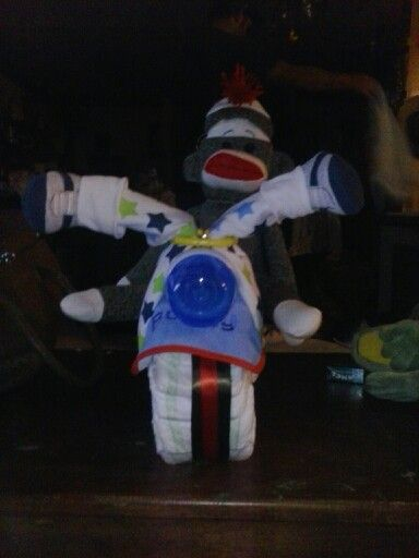 I made a diaper blanket motorcycle. It could be better.